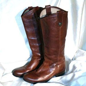 Frye Jackie Button Western Leather Heeled  Boot